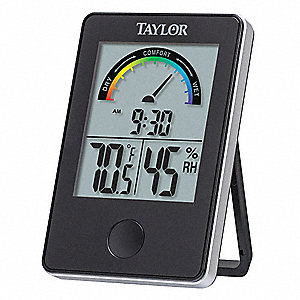 Digital Hygrometer,Indoor,14 to 122 F