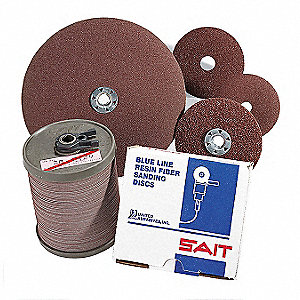 "5"" Coated Fiber Disc, 7/8"" Mounting Hole Size, Medium, 100 Grit Aluminum Oxide, 25 PK"