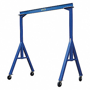 Fixed Gantry Crane, Steel, Blue, 4000 lb.