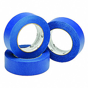 "Paper Masking Tape, Acrylic Tape Adhesive, 2.00 mil Thick, 2"" X 60 yd., Blue, 1 EA"