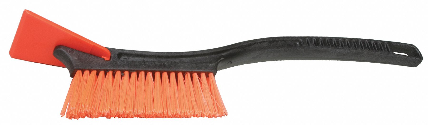 Fixed Head Snow Brush and Scraper with 19.25 in Plastic Contour Grip Handle, Black
