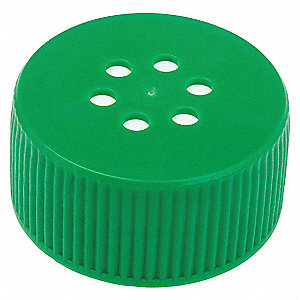 HDPE Screw On Narrow-Mouth Roller Bottle Cap, Green, 24 PK