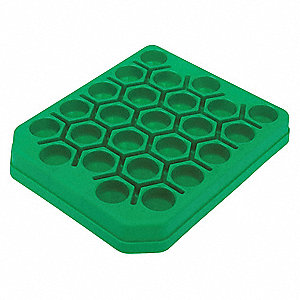 Centrifuge Tube Rack,Green,23cm L,PK5