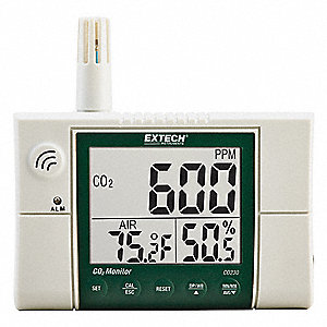 Indoor Air Quality Monitor,5.1 in. H