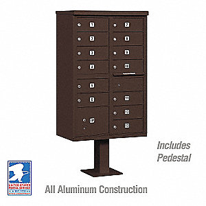 Cluster Box Unit,Bronze,14 Doors,18in. W