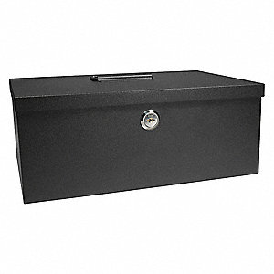 Cash Box, Compartments 6, 4-1/16 in. H