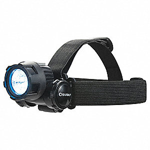 LED Headlamp, Plastic, 12,000 hr. Lamp Life, Maximum Lumens Output: 25, Black