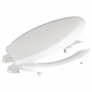 "Toilet Seat, Elongated, With Cover, 18-1/2"" Bolt to Seat Front"