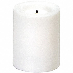 "White Flameless Votive Candle, 120 hr. Burn Time, 1-3/4"" Height, CRV2032 Battery Type, 50 PK"