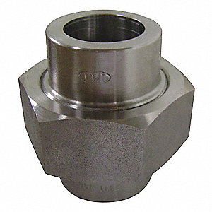 "304 Stainless Steel Union, Socket Weld, 1-1/2"" Pipe Size - Pipe Fitting"