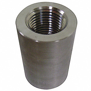 "304 Stainless Steel Coupling, FSW x FNPT, 1-1/2"" Pipe Size (Fittings)"