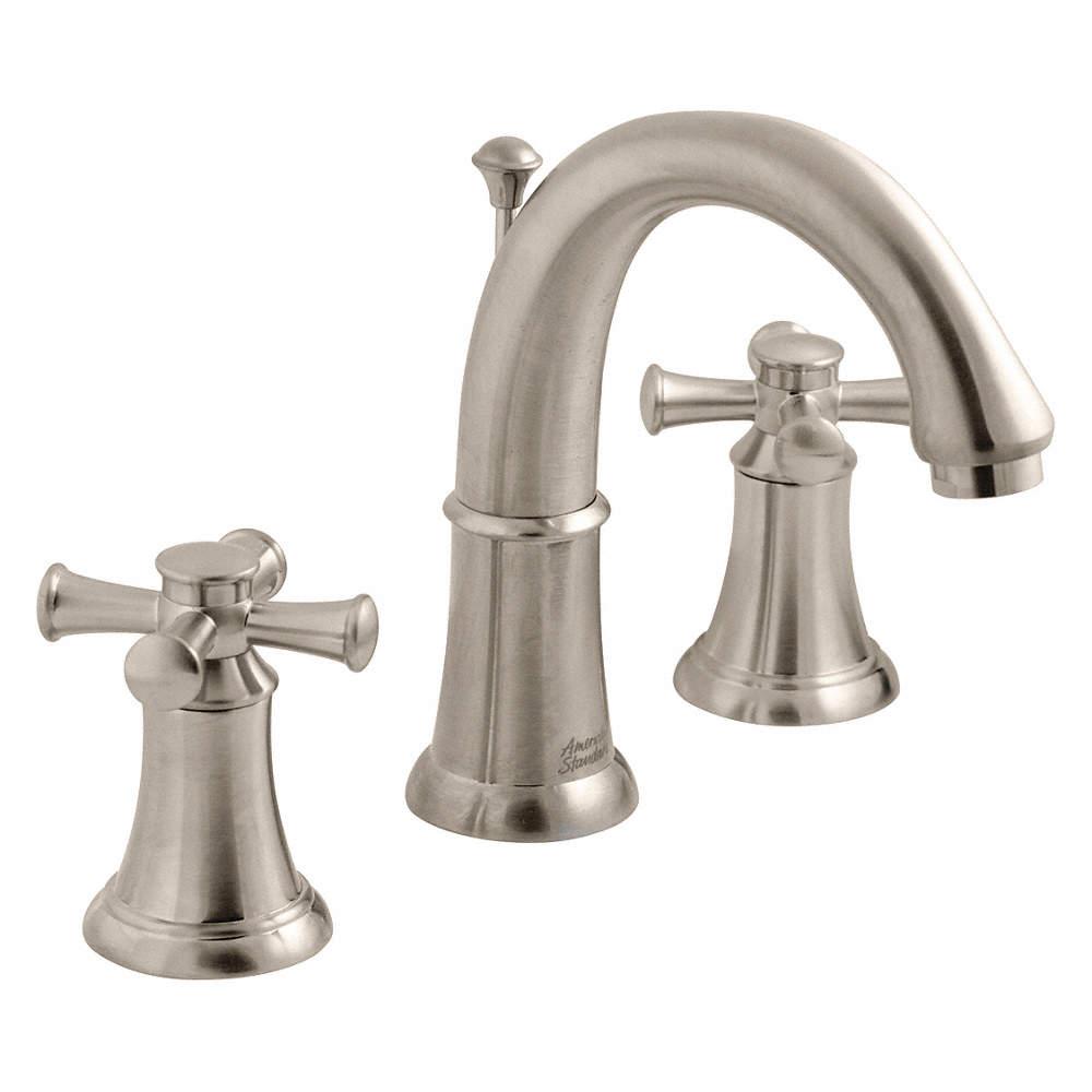 AMERICAN STANDARD Cast Brass Portsmouth Bathroom Faucet, Cross ...