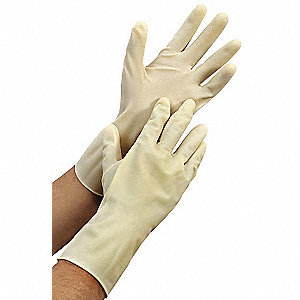 "Chemical Resistant Gloves, Size 11, 12""L, Natural ,  1 PR"