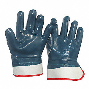 Smooth Nitrile Coated Gloves, Glove Size: XL, Navy Blue