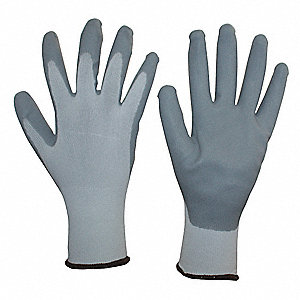 Coated Gloves,Palm and Fingers,M,PR