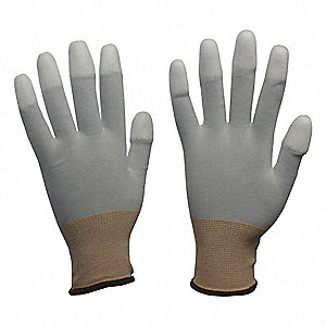 13 Gauge Smooth Polyurethane Coated Gloves, Glove Size: 2XL, White