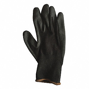 15 Gauge Foam PVC Coated Gloves, Glove Size: L, Black/Black