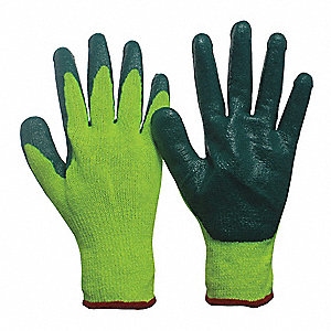 Nitrile Cut Resistant Gloves, ANSI/ISEA Cut Level 3, Polyester, Stainless steel Lining, Yellow/Green