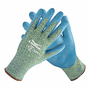Nitrile Cut Resistant Gloves, ANSI/ISEA Cut Level 4, Kevlar®, Spandex® Lining, Blue, Yellow, 2XL, PR