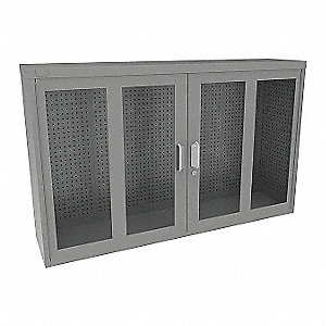 Metal Pegboard Cabinet,20.41 sq. ft.