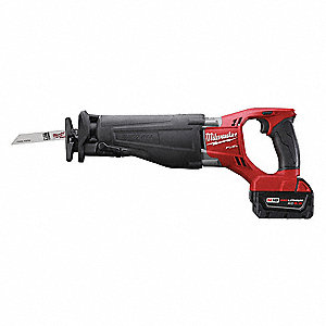 "18.0V Cordless Reciprocating Saw Kit, Battery Included, 1-1/8"" Length of Stroke, Straight Cut"
