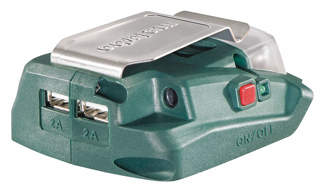 USB Power Source,  For Use With Metabo 14.4-18V Batteries, Metabo Heated Apparel