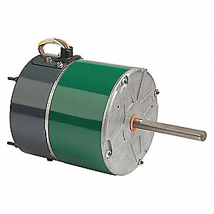 3/4 HP Condenser Fan Motor,ECM,1100/850 Nameplate RPM,460 Voltage,Frame 48