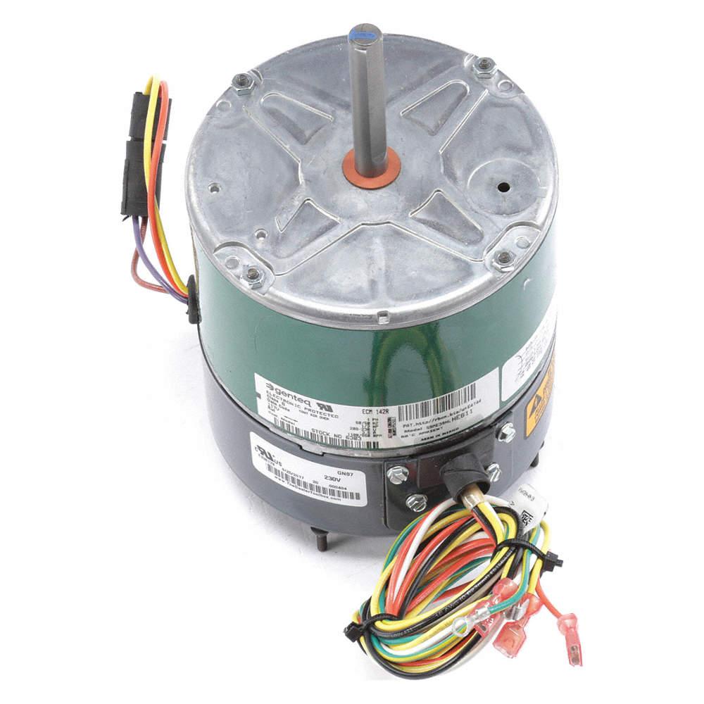 1/3 HP Condenser Fan Motor,ECM,1100/850 Nameplate RPM,208-230 Voltage,Frame  48