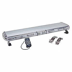 Lightbar,LED,Blue,Bracket Mnt,12 Heads