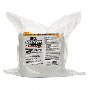 "Sanitizer Wipes,Bulk Refill,7-45/64""x 6"""