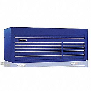 "Blue Industrial Premium Top Chest, 27"" H X 66"" W X 27"" D, Number of Drawers: 10"