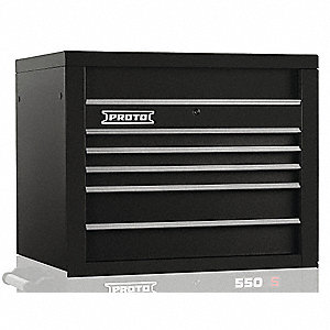 Top Chest,Black,34 in. W,5 Drawers