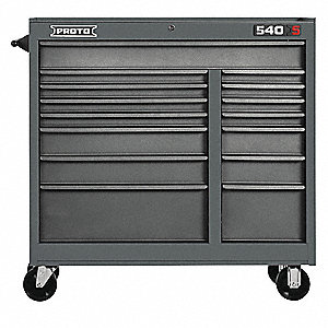 "Gray Heavy Duty Rolling Cabinet, 42"" H X 41"" W X 18"" D, Number of Drawers: 15"