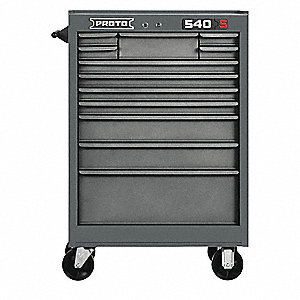 "Gray Heavy Duty Rolling Cabinet, 42"" H X 27"" W X 18"" D, Number of Drawers: 12"