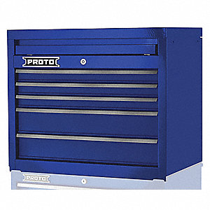 "Blue Heavy Duty Top Chest, 19"" H X 27"" W X 18"" D, Number of Drawers: 5"