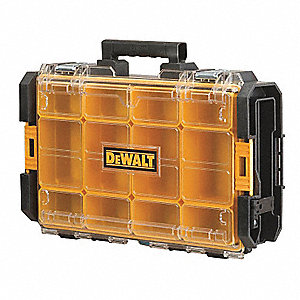 Storage Case,44 lb.,4-1/2in.H,Blk/Yellow