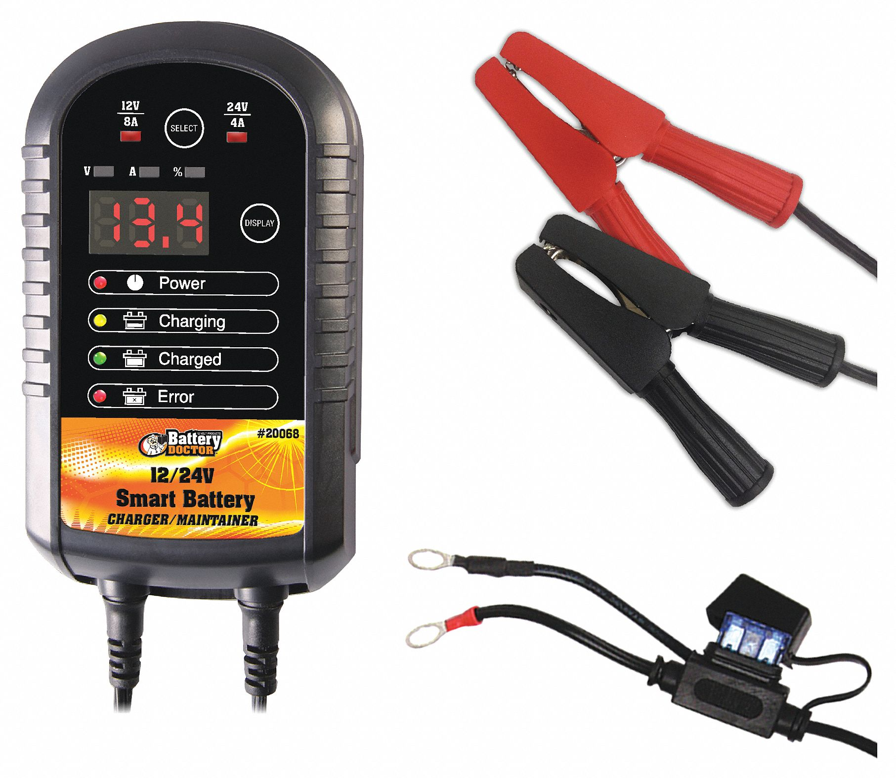 Battery Doctor Automatic Battery Charger And Maintainer Charging Maintaining 48vf14 20068 Grainger