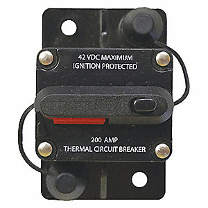 31200 Series Automotive Circuit Breaker, Surface Mounting, 180 Amps, Stud Terminal Connection