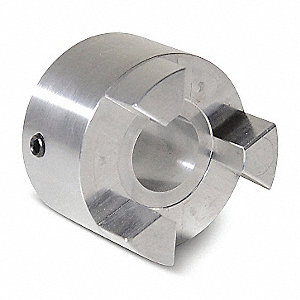 "AL100 7/8"" Aluminum Jaw Coupling Hub, Keyway: Yes"