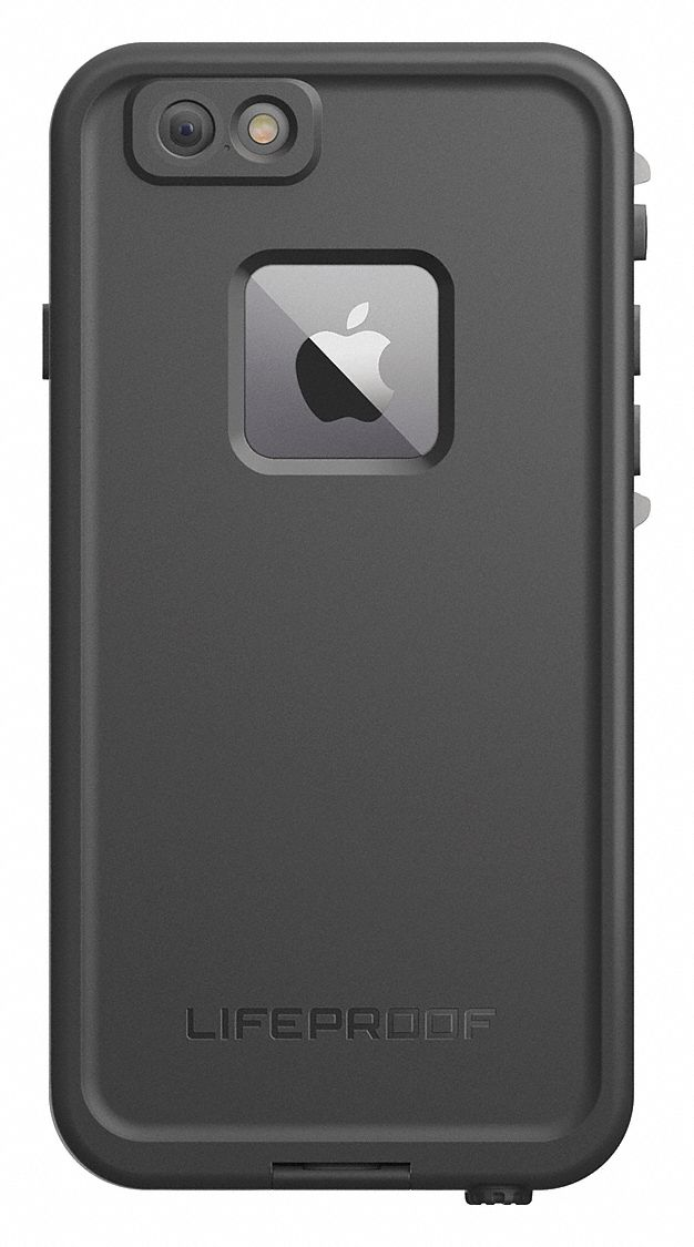 Cell Phone Case,  Fits Brand Apple,  Black,  Plastic, Polycarbonate, Silicone