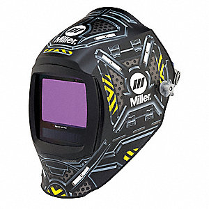 "Digital Infinity Series, Auto-Darkening Welding Helmet, 5 to 13 Lens Shade, 6.70"" x 6.70"" Viewing Ar"