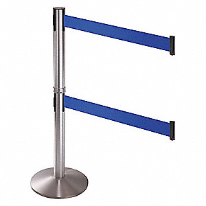 Barrier Post,Aluminum Post,Blue Belt