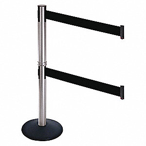Barrier Post,Satin SS,Black Belt,Sloped