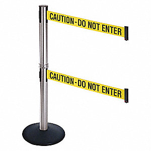 Barrier Post,Satin SS,Yellow/Black Text