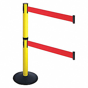 Barrier Post,Black,Red Belt,2 Belts