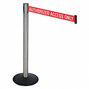 Barrier Post,SS Post,Black,10 ft. Belt L