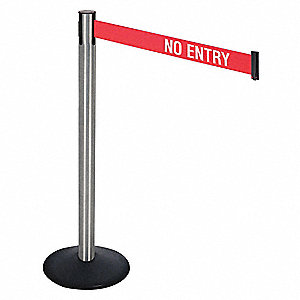 Barrier Post,SS Post,Black,No Entry