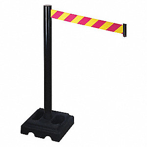 Barrier Post,Blk,Magenta/Ylw Belt,Square