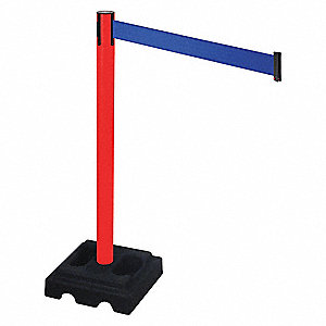 Barrier Post,Black,Blue Belt,Square