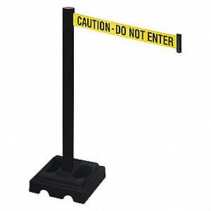 Barrier Post,PVC Post,Ylw/Blk Text,40inH